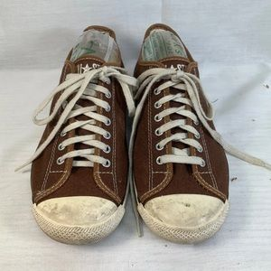 Brown Low Top Converse